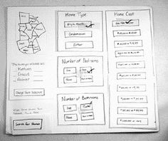 Example of a paper prototype