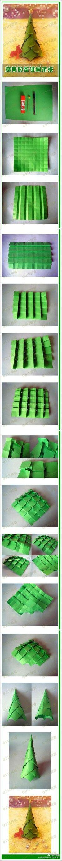 [Natal] parentalidade coleção árvore de Natal origami DIY Manual
