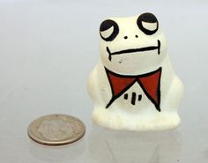 Native American Acoma NM Pueblo Pottery Frog Signed M Concho