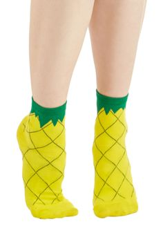 Fruit as Can Be Socks. Discover a fresh take on comfy-cozy style with these quirky socks! #yellow #modcloth