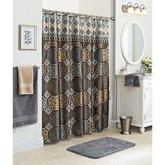 Better Homes and Gardens Santorini Fabric Shower Curtain, Multi-Color: Bath : Walmart.com