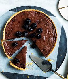 Gourmet Traveller recipe for Chocolate and blackberry tart :: Gourmet Traveller