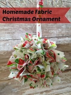 Have fun making your ornaments this Christmas with the kiddos and fill your tree with this frugal fabric christmas ornament. Super cute!