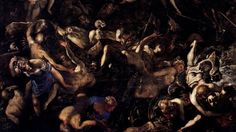 Last Judgment, detail - Jacopo Robusti (known as Tintoretto) oil on canvas 1450 x 590 cm Madonna dell'Orto church, Venice Renaissance Paintings, Renaissance Art, Madonna, Mysterious Words, Venetian Painters, The Last Judgment, Web Gallery, Museum, Fluffy Dogs