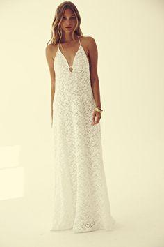 Lace Slip Dress #lace #white