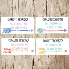 arrow return address labels address labels address by Labelin Custom Printed Labels, Printing Labels, Address Label Stickers, Return Address Labels, Watercolor Stickers, Best Resolution, Custom Stickers, Arrow, Envelopes