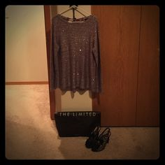 "FINAL💜PURPLE SEQUIN SWEATER TOP-THE LIMITED-CUTE! Oh how I wish this would have fit!! I thought I'd be safe not to try on, so grabbed a large & left. However, it was just a little baggier than I wanted! So I'm selling here for u all. So this is brand new, never worn, and ADORABLE!! Bow on back that ties. Shimmery! Beautiful for the holidays, Christmas, etc! 🎄🌀 Please respect ""no low offers"" as I'm trying to get my money back, & prob won't get quite all. Thank you! I bundle, & share, check…"