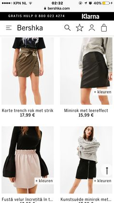 Skirts #bershka #skirts