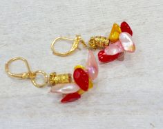 A chunky unique and elegant pair of earrings are a by MioCapriccio