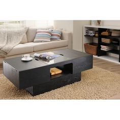 online shopping for Furniture America Minimal Black Finish Hidden Storage Rectangular Coffee Table from top store. See new offer for Furniture America Minimal Black Finish Hidden Storage Rectangular Coffee Table Black Coffee Tables, Small Coffee Table, Coffee Table Styling, Lift Top Coffee Table, Cool Coffee Tables, Modern Coffee Tables, White Coffee, Coffe Table, Black Table