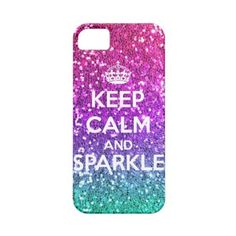 Keep Calm and Sparkle Glitter LookLike Rainbow iPhone 5 Cases ($45) found on Polyvore