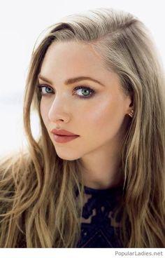 Long blonde hair and green eyes