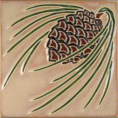 mosaic pinecone | Prairie Mile Tile