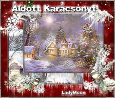 Animated Gif by Lady Moon Christmas Scenes, Christmas And New Year, Christmas Cards, Merry Christmas, Christmas Pictures, Animated Gif, Garden Design, Greeting Cards, Moon