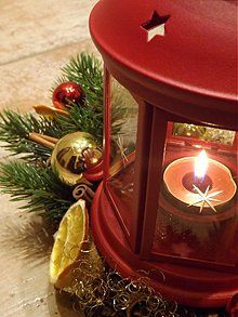 Dekorácie - Lampášikový svietnik s čečinou - 3350164