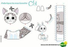 """Imprimer de quoi réaliser votre petite marionnette Chi (du manga """"Chi, une vie de chat) - marionnette.jpg"""