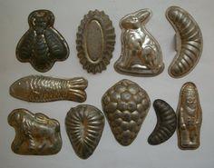 10 Vintage 1920s Czechoslovakia Christmas Cookies Baking Molds