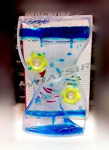 New-Acrylic-Oil-Glass-Liquid-Timer-Clock-Hourglass-Ornament-Desk-Toy-Deco-B13