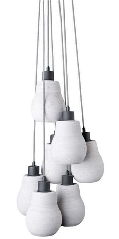 It's About RoMi :: Lampa betonowa CADIZ Cadiz 7 kloszy | OŚWIETLENIE \ sufitowe WYBIERZ SWÓJ STYL \ Loftowy | 9design Warszawa