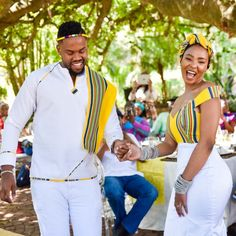 A Stylish Venda Wedding Venda Traditional Attire, Sepedi Traditional Dresses, South African Traditional Dresses, Traditional Wedding Attire, African Bridal Dress, African Print Wedding Dress, African Wedding Attire, African Attire, Couples African Outfits