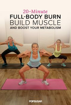 This 20-minute workout keeps you moving to burn calories with bursts of strength training to build lean muscle. Do before you shower in the morning to rev your metabolism for the day!