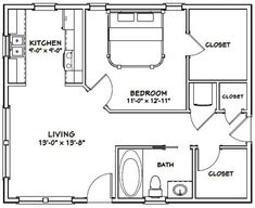 Small House Floor Plans, Simple House Plans, Dream House Plans, Garage Apartment Plans, Garage Plans, Shed Plans, Bench Plans, 1 Bedroom House Plans, Small House Living