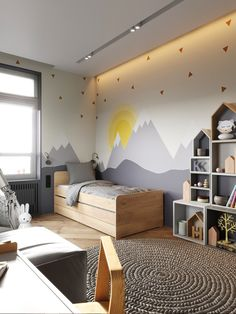 kleinkind zimmer This excellent boys bedroom shared is definitely an inspirational and ideal idea Kids Bedroom Designs, Boys Bedroom Decor, Kids Room Design, Baby Bedroom, Baby Room Decor, Bedroom Wall, Kids Room Paint, Kids Room Wallpaper, Baby Boy Rooms