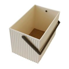 Omnioffre Carry Storage Box Medium Beige With Brown Handles (£15) ❤ liked on Polyvore featuring home, home decor, small item storage, alabaster box, bone box, stacking boxes, storage boxes and colored storage boxes