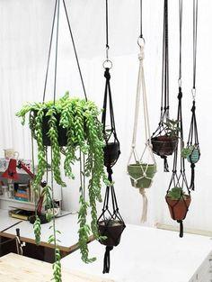 OMG, súper fácil!  DIY Plant Pot Hanging Rope