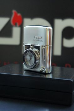 Premium Imported Vintage Japanese Zippo Lighter TIME LITE SERIES Special Lacquer Finish Brushed Chrome