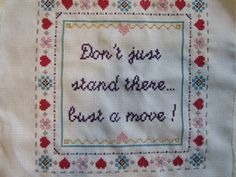 PATTERN Hip Hop Cross Stitch Bust a Move Young MC by stephXstitch