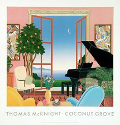 Thomas McKnight, Coconut Grove Coconut Grove Florida, Thomas Mcknight, Meditation Images, Art Thomas, Joy Of Living, Picture Wall, Contemporary Artists, Art Images, Piano