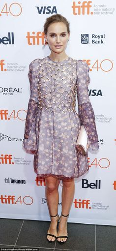 Busy lady: The actress put on an equally glamorous display at the2015 Toronto Internation...