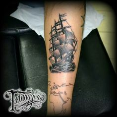 Galleon tattoo