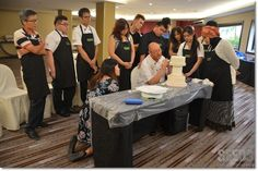 David teaching the participants of his 'Royal Icing Masterclass Workshops' that was held in Kuching recently.