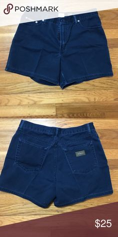 Calvin Klein Navy Denim Shorts 100% Cotton Calvin Klein Jeans Shorts Jean Shorts