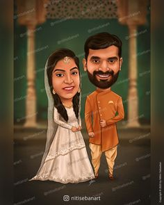 Muslim wedding caricature, Custom Caricatures illustration from photos, Save the date, Indian caricature, Tamilnadu, Tamil wedding, tamil muslim wedding, tamil caricature, Caricature Wedding Gifts, Islam wedding, Caricature Invite, guests sign in board, India Wedding, nitisebanart Islam Wedding, India Wedding, Tamil Wedding, Wedding Caricature, Caricatures, Save The Date, Muslim, Invite, Wedding Gifts