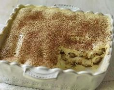 This authentic Italian tiramisu is the perfect make-ahead dessert. It's boozy and creamy and lightened a bit with egg whites to give it an airy texture. Make Ahead Desserts, No Cook Desserts, Dessert Recipes, Italian Tiramisu, Dessert Glasses, Trifle Dish, Sweet Treats, Cooking Recipes, Gastronomia