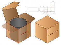 Premium Vector | Box packaging die cut template design. 3d Cardboard Display, Cardboard Gift Boxes, Cardboard Packaging, Mock Up, Food Box Packaging, Bag Packaging, Restaurant Flyer, Birthday Gifts For Best Friend, Diy Gift Box
