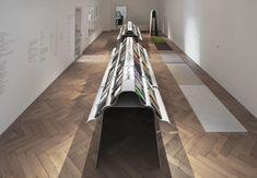 """Img.7 Zeller & Moye, Stiff furniture and exhibition elements, """"Neue Stoffe-New Stuff"""", Textilmuseum St. Gallen, Switzerland, 2017. Photo Juerg Zuercher"""