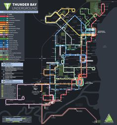 Unofficial Map: Thunder Bay Bus Network  Submitted and created by faiscequetupeux