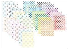 12 papiers à pois (couleur sur fond blanc) et 11 papiers imprimés de coeurs composent ce set gratuit...