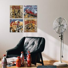 Brand: sunfrowerColor: BlackFeatures: [Painting Size]: 12x12inchx4(30x30cmx4), pohto theme:Inspirational bicycle, aeroplane canvas wall art ,colour: Black, red, white, brown. wooden inner frame, ready to hang, hanging accessory kit included.Due to different monitors, actual wall art canvas prints colors may be slightly different from the product picture shown online. [Applicable Scene]: Inspirational quote bicycle poster wall decor , perfect choice for living room, bedroom, children's room…