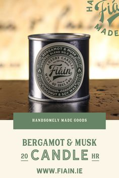 Bergamot & Musk has been nicknamed the boyfriend candle by our customers. Ever passed someone in the street & their cologne has lingered in the air? You want to go up and ask them what it is... but of course you don't. Except now, we've perfected that cologne in a candle so you don't have to look all sheepish & coy! Hitting sharp notes of bergamot, ceder wood, warm leather and musk. Made with coconut & soy wax.
