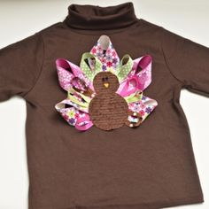 Make an adorable turkey t-shirt for your little one this Thanksgiving!