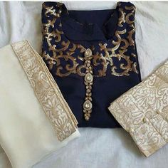 navy and white. Pakistani Fashion Casual, Pakistani Dresses Casual, Pakistani Dress Design, Indian Dresses, Indian Outfits, Indian Fashion, Shadi Dresses, Indian Clothes, Bollywood Fashion