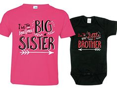 Sisters Outfit, Brothers Onesie, Hipster Design, Includes Medium 10-12 & 0-3 mo. Amazon size chart is not specific to our brand. You should not use it to pick the size you need. Please see product description below for more information on the sizes of our shirts. Cotton T-shirt and onesie for comfort and softness. T-shirt and onesie are included in price. Cute screen printed design with Crew Neck for T-shirt and Lap shoulder neckline for onesie. We have many other designs to choose from....