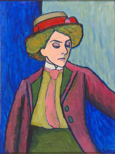Gabriele Münter / Portrait of a Young Woman [Bildnis einer Jungen Dame] / 1909 / Milwaukee Art Museum