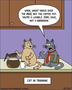 Cat cartoon - Metzger - Tap the link now to see all of our cool cat collections! #catsfunnysayings