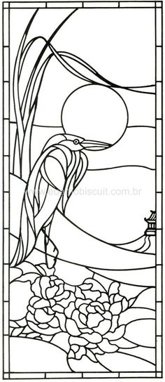 Great image for craft project, like Batik. Stained Glass Quilt, Stained Glass Birds, Faux Stained Glass, Stained Glass Designs, Stained Glass Projects, Stained Glass Patterns, Mosaic Patterns, Stained Glass Windows, Fused Glass
